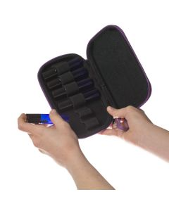 Aroma Ready Branded Hard Shell Wristlet Case for 10 ml Roll-Ons (Holds 6 Vials)